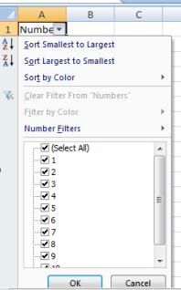 Data filter help
